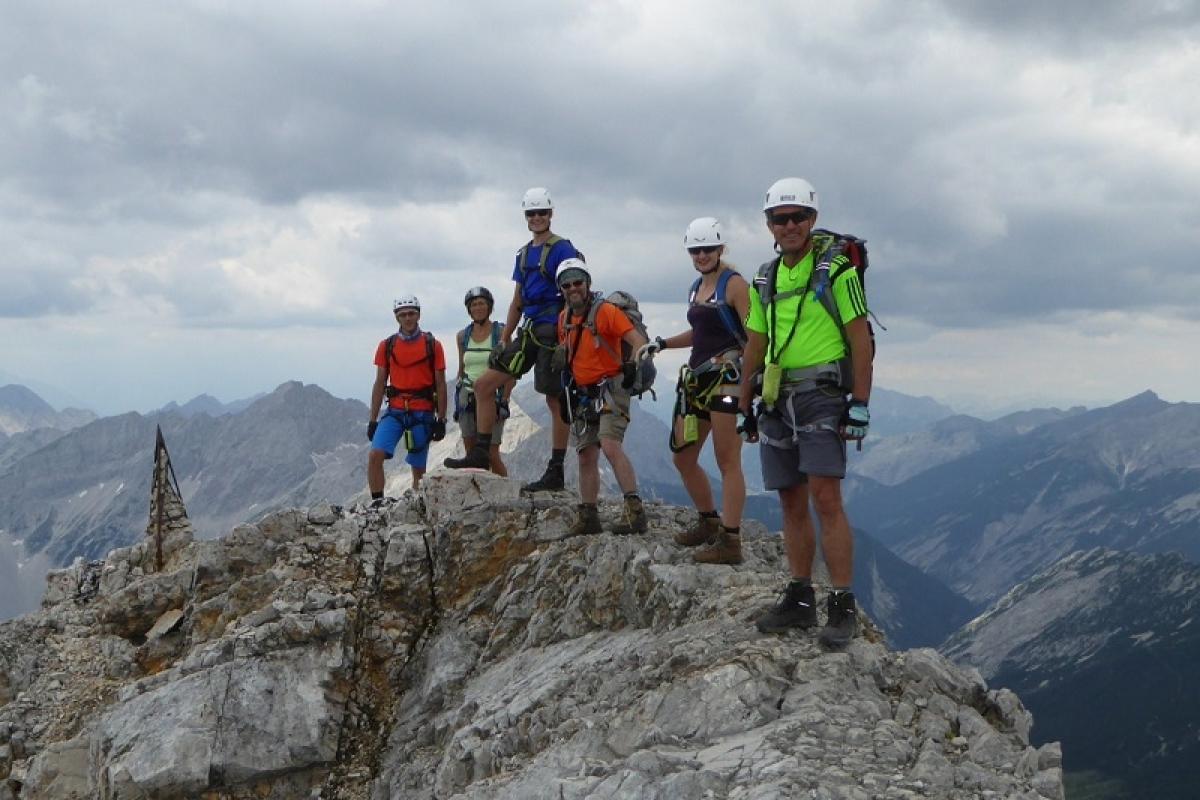Klettersteigset Selber Knoten : Absamer klettersteig bettelwurfhütte 2.077 hm